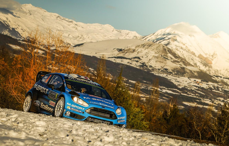 Photo wallpaper Ford, WRC, Rally, Fiesta, Monte Carlo