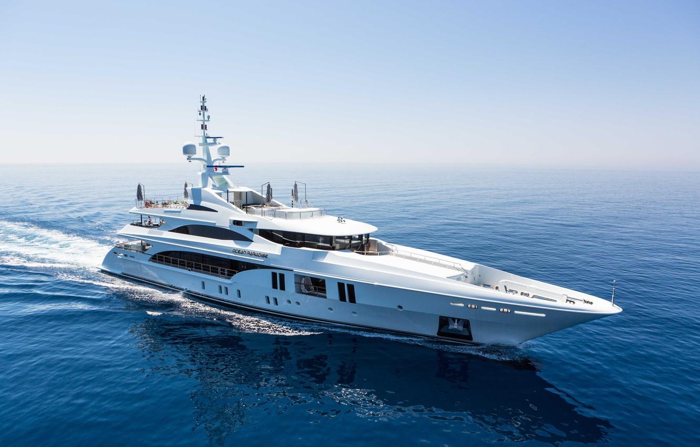 Photo wallpaper yacht, luxury motor yacht, Ocean Paradise