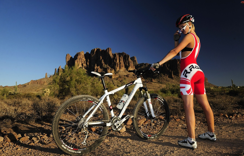 Photo wallpaper bike, athlete, mountain bike