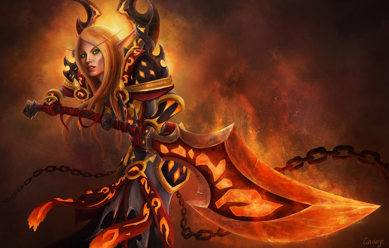 Wallpaper Paladin Paladin Bloody Elf Blood Elf Wow World Of