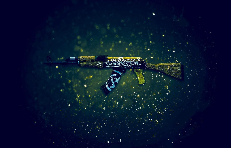 Photo wallpaper AK-47, Counter-Strike: Global Offensive, CS:GO, desert rebel, Wasteland Rebel