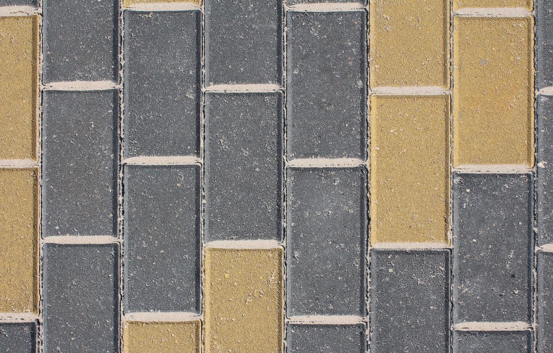 Photo wallpaper sand, yellow, grey, pavers