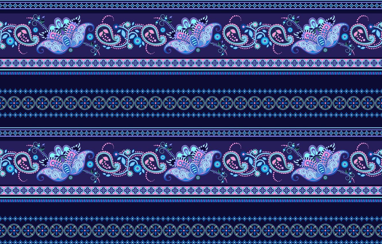 Photo wallpaper blue, strip, pattern, ornament