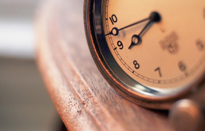 Photo wallpaper macro, time, watch