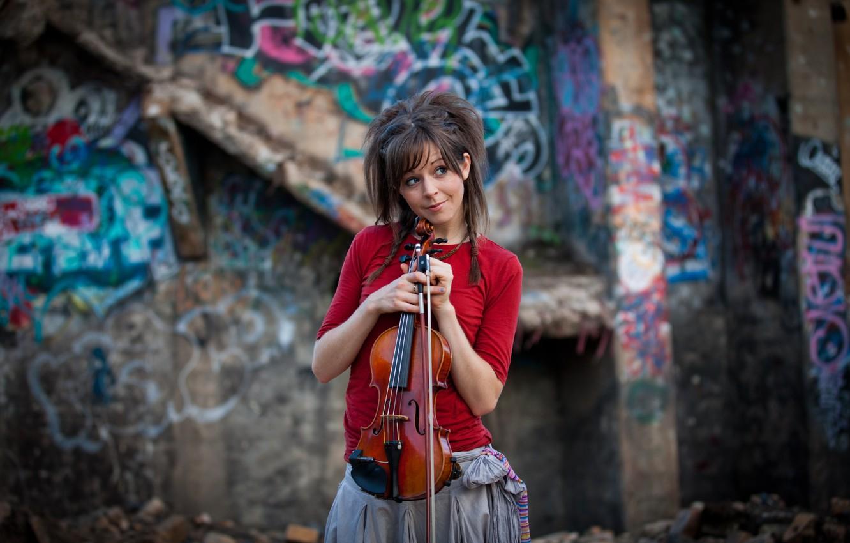 Photo wallpaper violin, beauty, violin, Lindsey Stirling, Lindsey Stirling, violinist