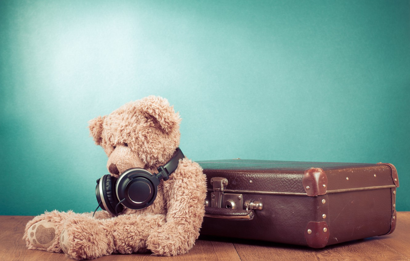 Photo wallpaper sadness, loneliness, toy, bear, bear, toy, bear, cute, Teddy