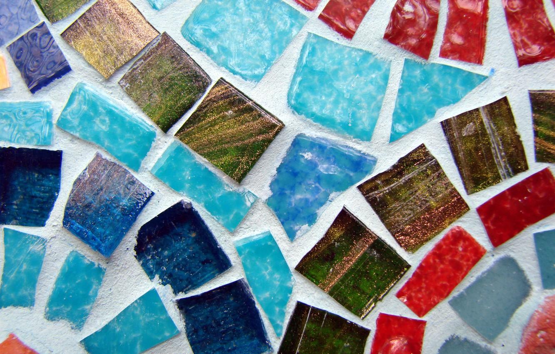 Photo wallpaper color, mosaic, pebbles