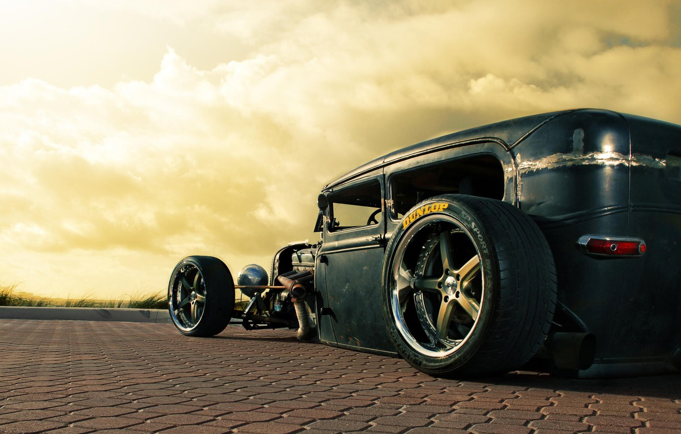 Photo wallpaper car, ford, old, stance, Rusty