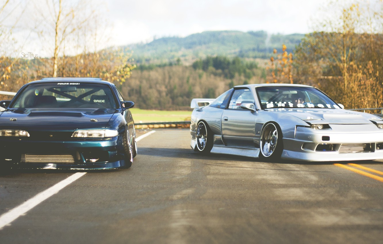 Photo wallpaper Nissan, jdm, silvia, s14, together, 180sx, zenki