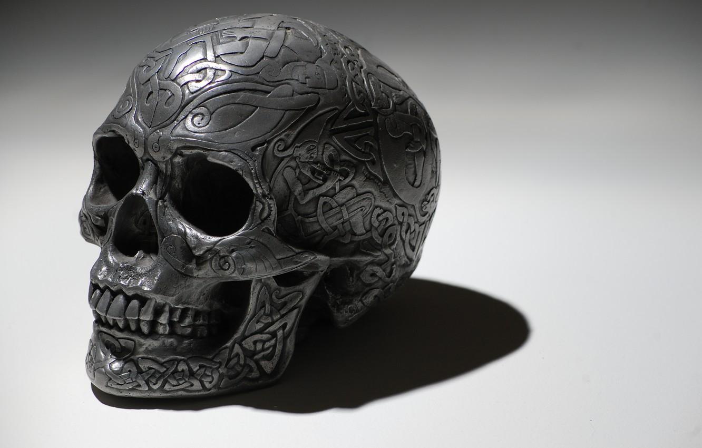 Photo wallpaper pattern, skull, sake