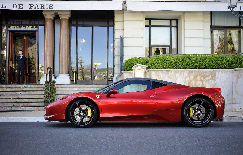 Photo wallpaper red, Ferrari, red, the hotel, Ferrari, 458, hotel, Italia