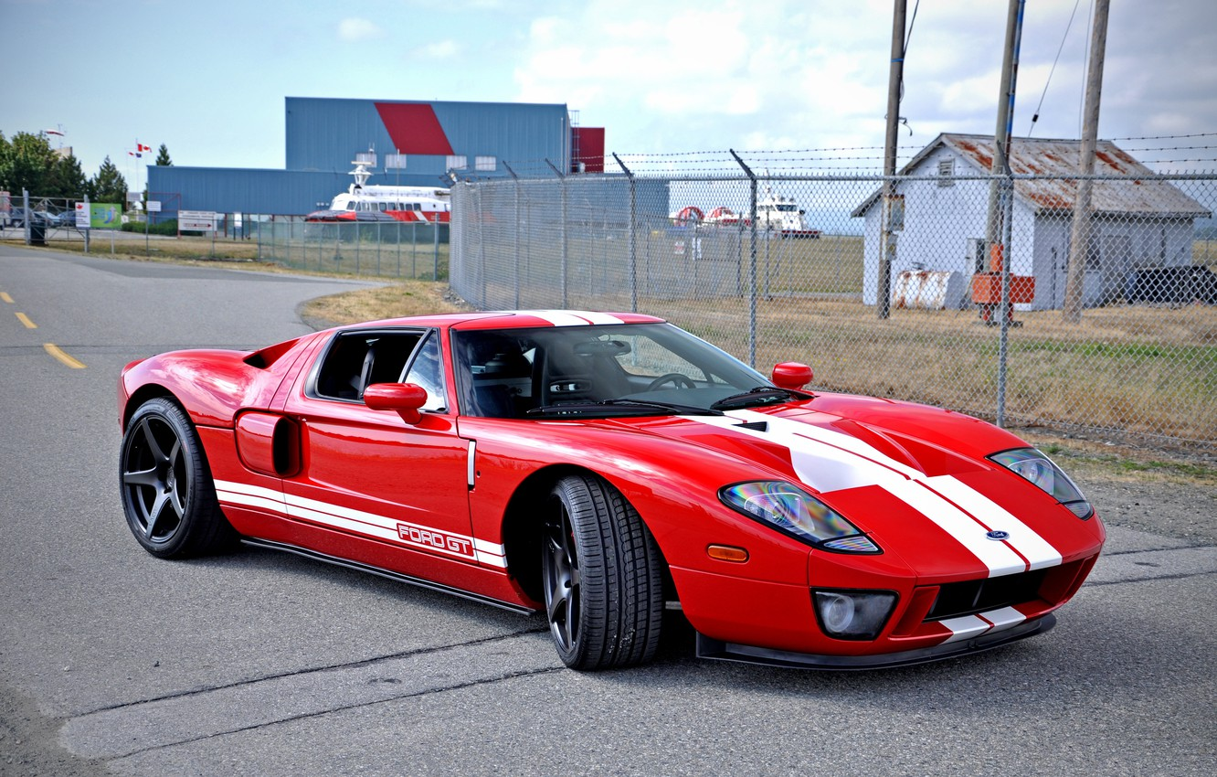 Photo wallpaper red, ford, base, gt