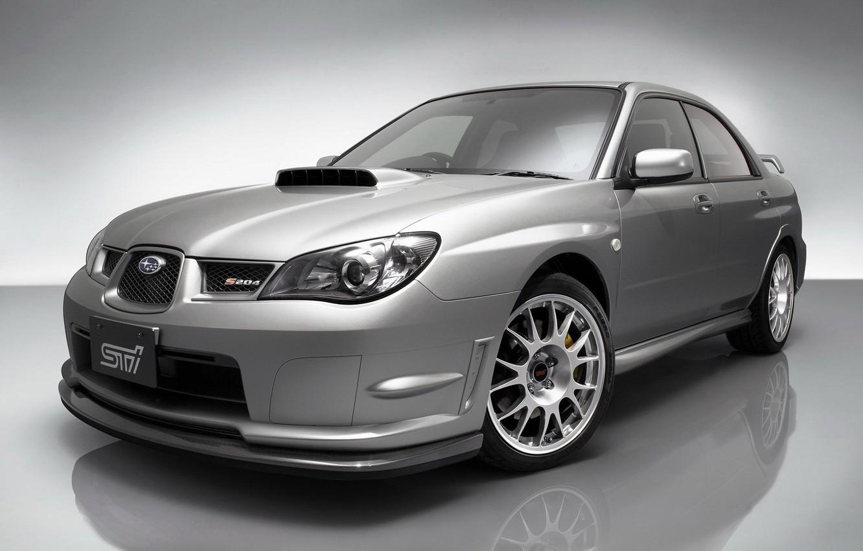 Photo wallpaper Subaru, Impreza, Grey