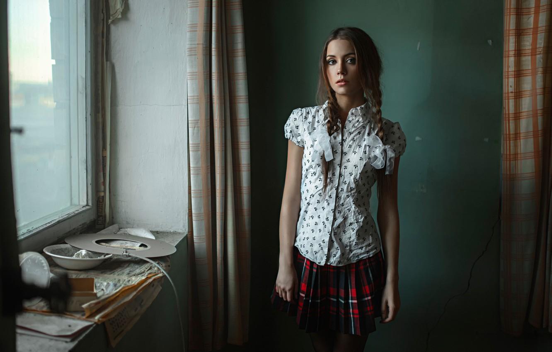 Photo wallpaper schoolgirl, 1 Sep, the irony, George Chernyadev, Kseniya Kokoreva, the day of knowledge, happy holiday