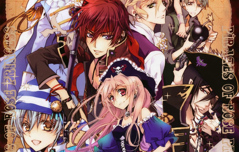 Photo wallpaper weapons, hat, wick, pirates, anise yumamoto, seiran asagi, kaede higa, kiss of rose princess, mutsuki …