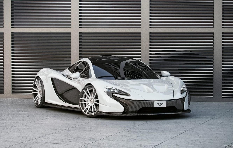 Photo wallpaper McLaren, White, Tuning, Carbon, Wheelsandmore, The front