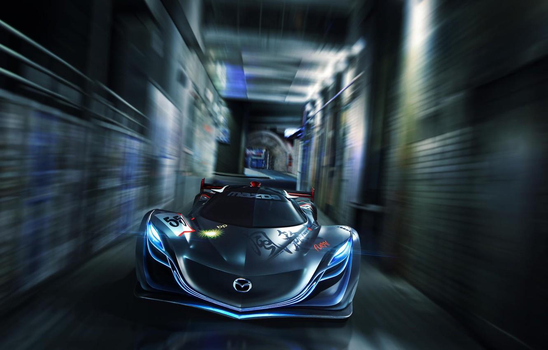 Photo wallpaper Concept, Mazda, Mazda, Car, Speed, Front, Furai, Furai