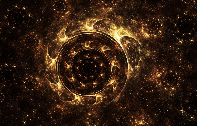 Photo wallpaper lights, pollen, round, wheel, art, fractal