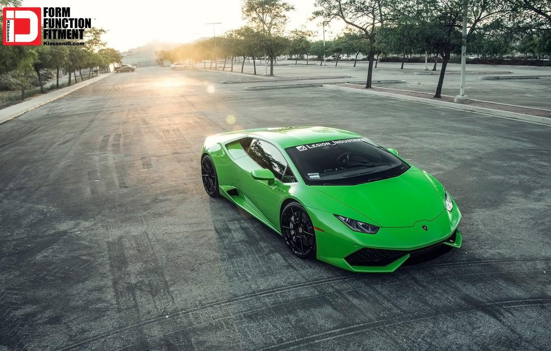 Photo wallpaper Lamborghini, Car, Green, Lambo, Tuning, Vehicle, 2015, Huracan, LP 610, Classes, 2015 Lamborghini LP 610-4 …