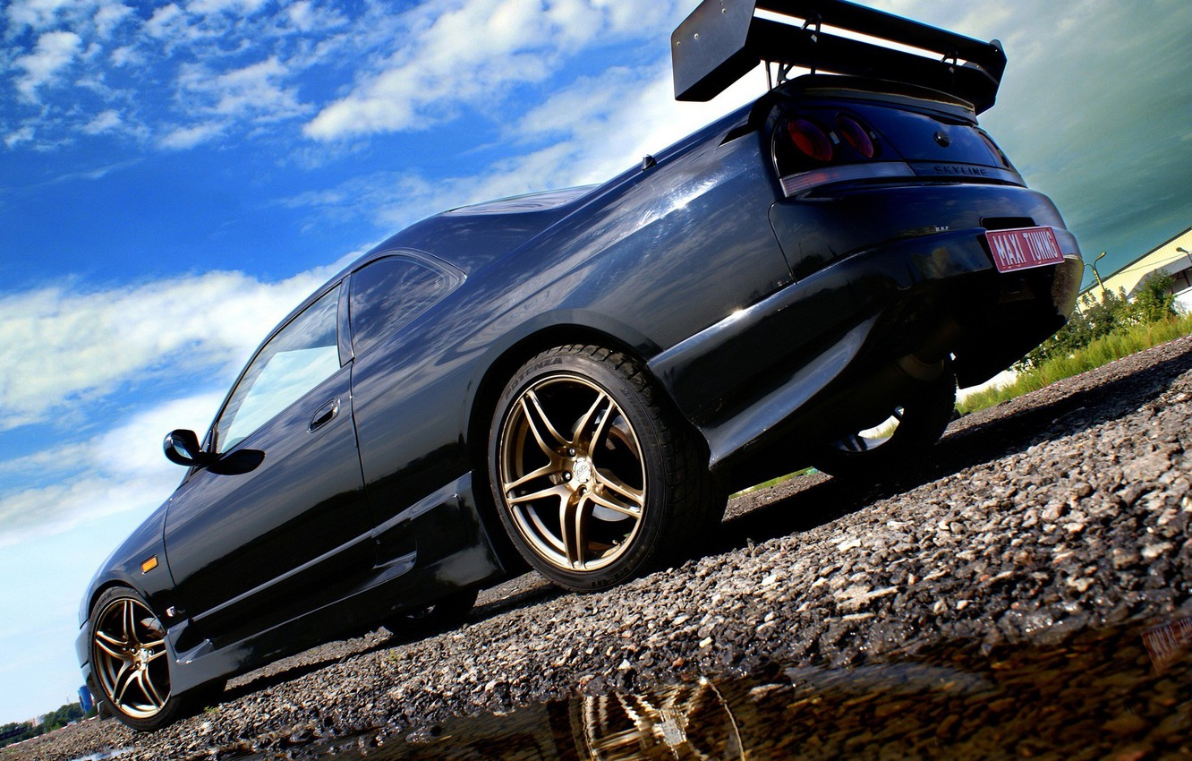 Photo wallpaper the sky, tuning, Nissan