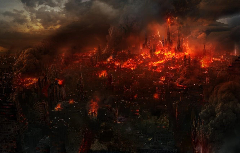Wallpaper The City Fiction Fire Apocalypse Zipper Ruins The