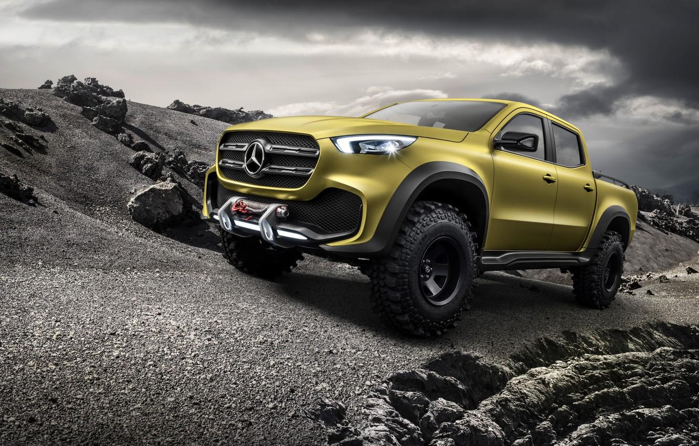 Photo wallpaper the concept, Mercedes - Benz, Mercedes Benz, 2016, X-Class, off-road pickup truck, Powerful Adventurer