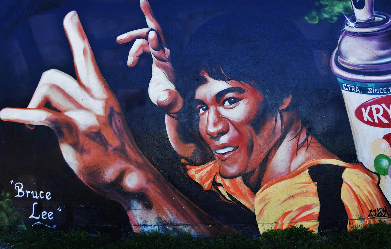 Photo wallpaper wall, graffiti, Graffiti, Bruce Lee, Bruce Lee