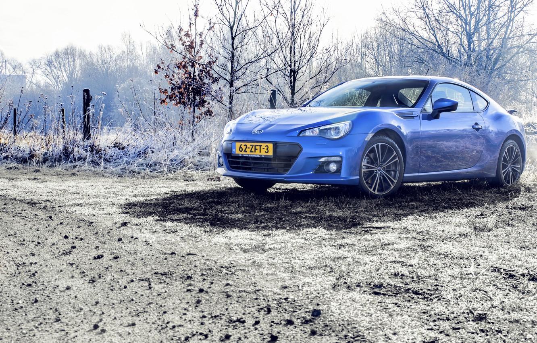 Photo wallpaper Subaru, Blue, BRZ, Photoshoot