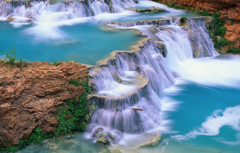 Photo wallpaper water, river, waterfall