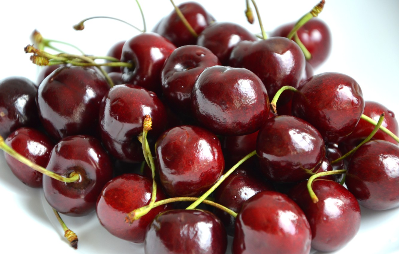 Photo wallpaper berries, food, cherry, food, Burgundy, cherry