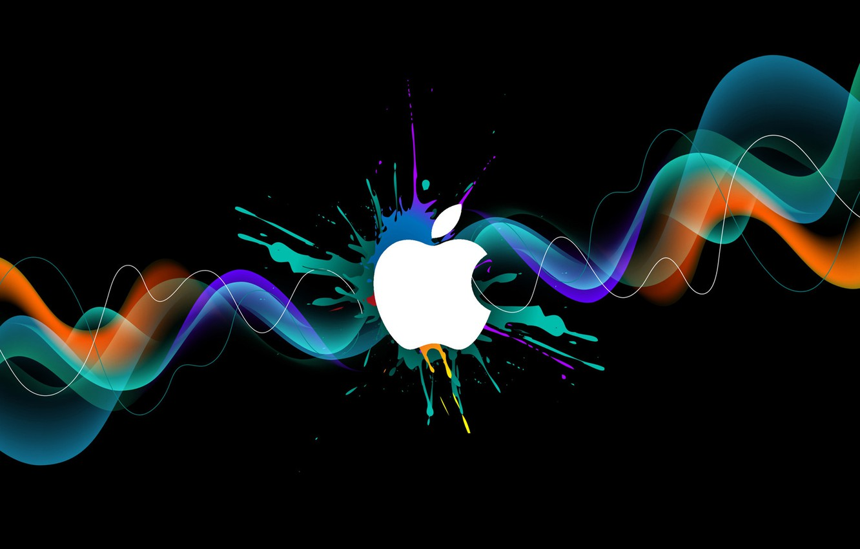 Photo wallpaper paint, apple, logo, brand