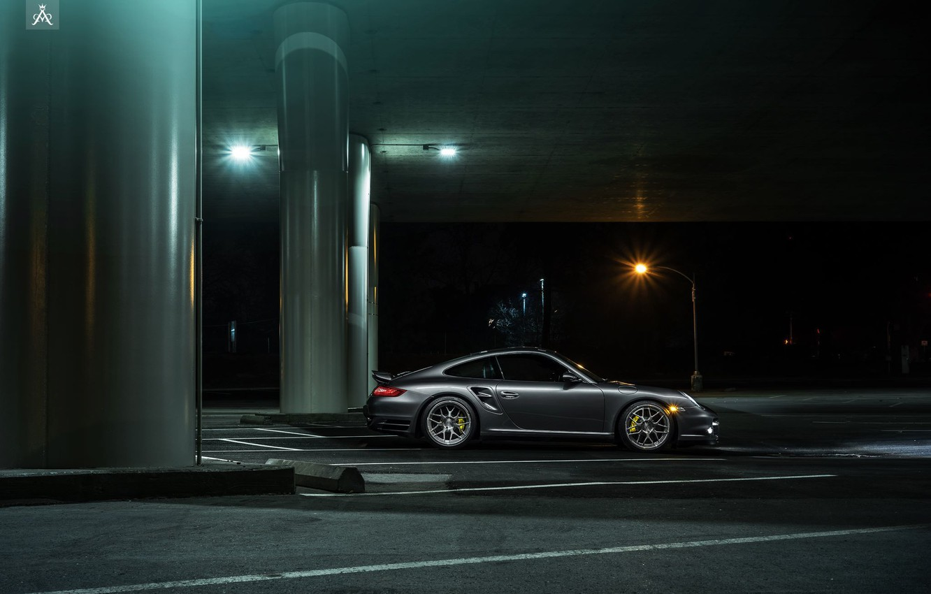 Photo wallpaper 911, Porsche, Forged, Side, Turbo, Collection, Aristo, Ligth, Nigth