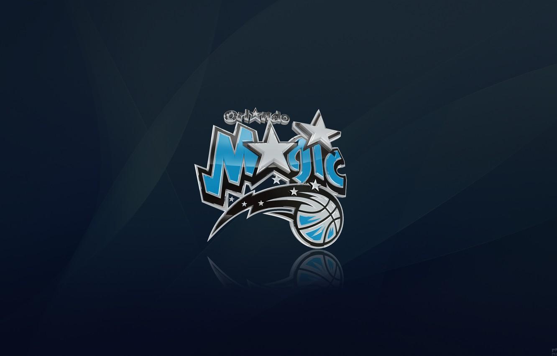 Photo wallpaper Blue, Star, Basketball, Magic, Background, Logo, Orlando, NBA, Orlando Magic