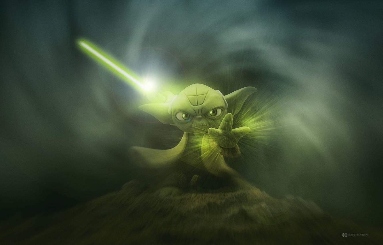 Photo wallpaper Star wars, Iodine, Yoda