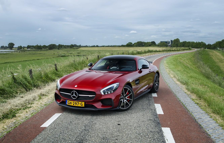 Photo wallpaper Mercedes, Benz, Red, AMG