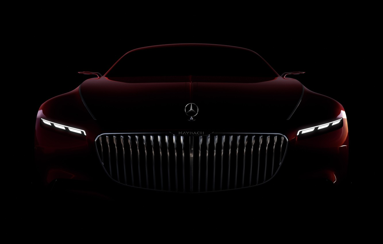 Photo wallpaper car, wallpaper, Mercedes, red, black, Maybach, beauty, comfort, luxury, automobiles, vehicle, official wallpaper, desing, bold …