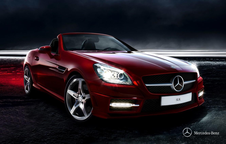 Photo wallpaper Mercedes-Benz, convertible, Mercedes, 2011, SLK, R172