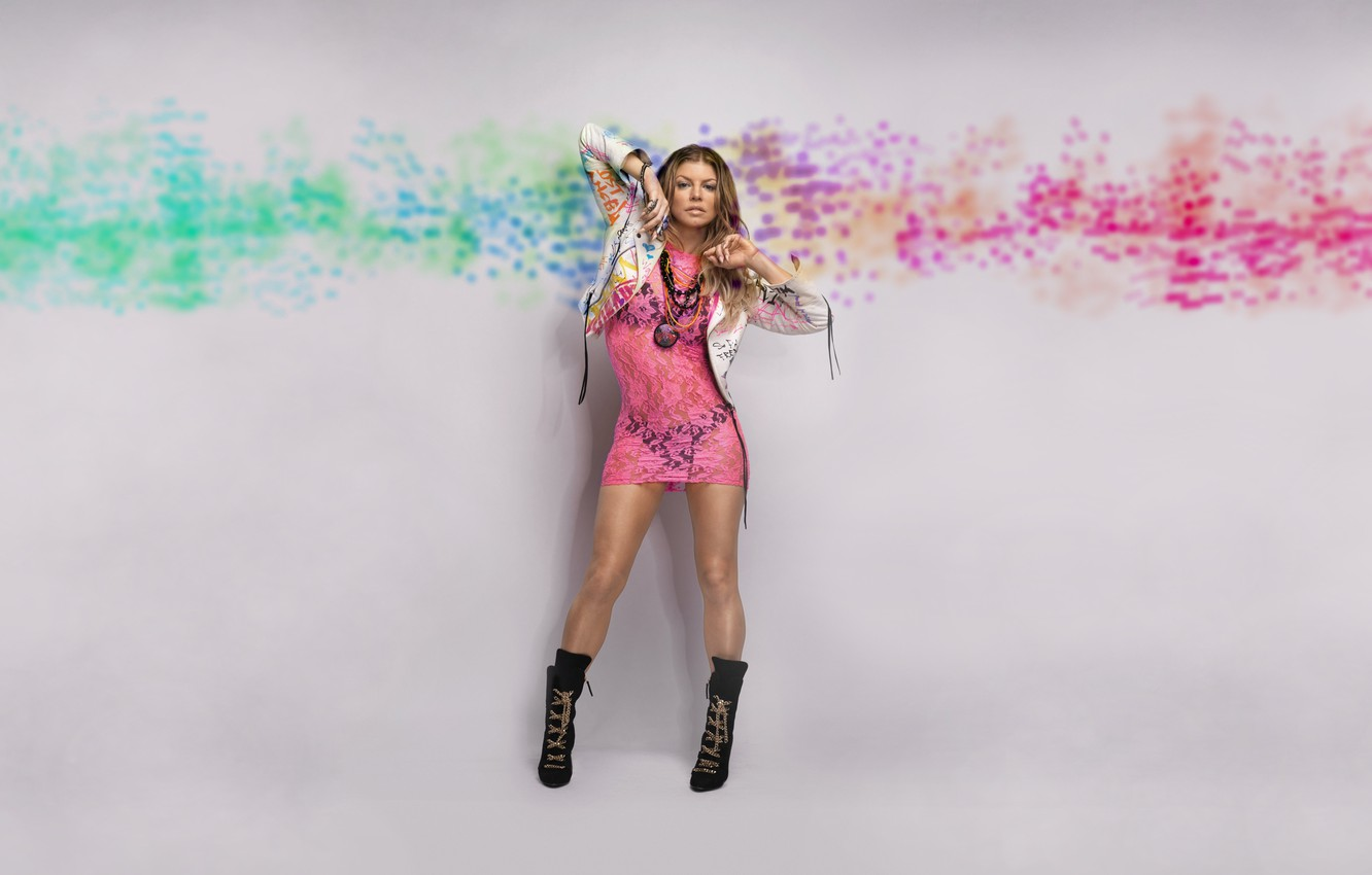 Wallpaper Sexy, Music, Pink, Passion, Singer, Legs, Beauty, Fergie, Celebrity -3274