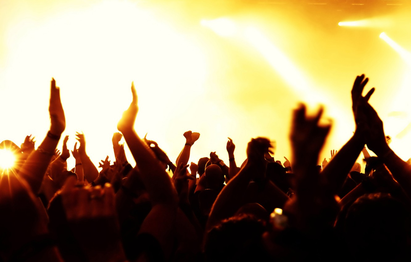 Photo wallpaper light, music, concert, the audience