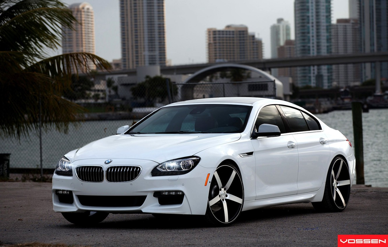 Photo wallpaper Tuning, White, Car, Car, Bmw, White, Wallpapers, Tuning, BMW, 6 Series, Wallpaper, The front, Voss, …