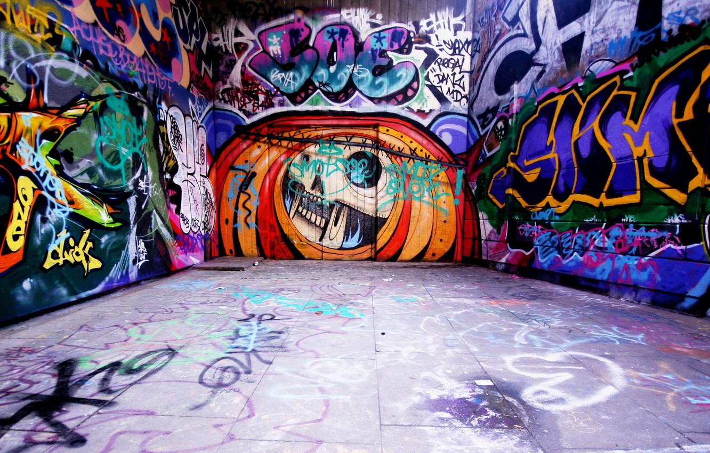 Photo wallpaper labels, wall, graffiti, art, Style, tags