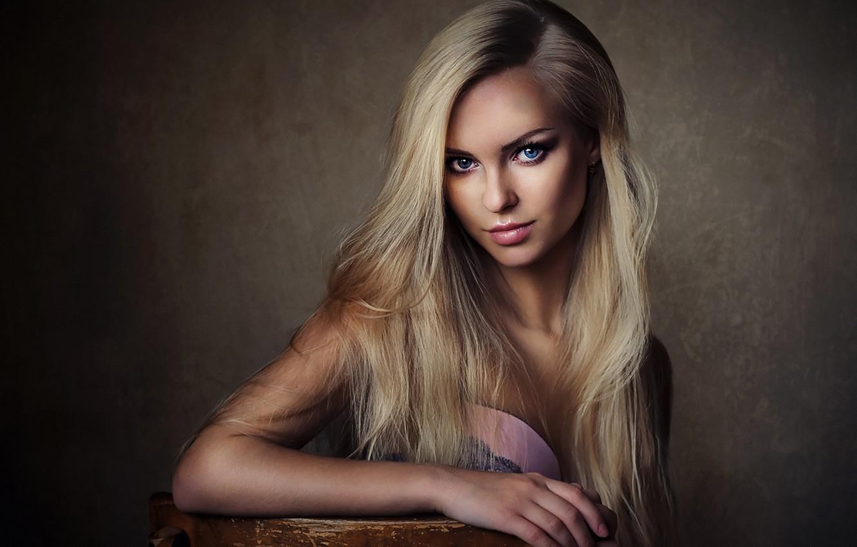 Photo wallpaper Girl, Beautiful, Model, White, Female, Beauty, Eyes, Studio, Face, Fashion, Glamour, Hair, Young, Victoria Pichurova, …