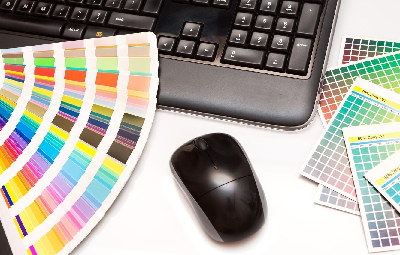 Photo wallpaper colors, notebook, decoration, mouse