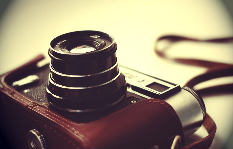 Photo wallpaper background, blur, the camera, lens, case, Soviet, single lens reflex cameras, Fed-5