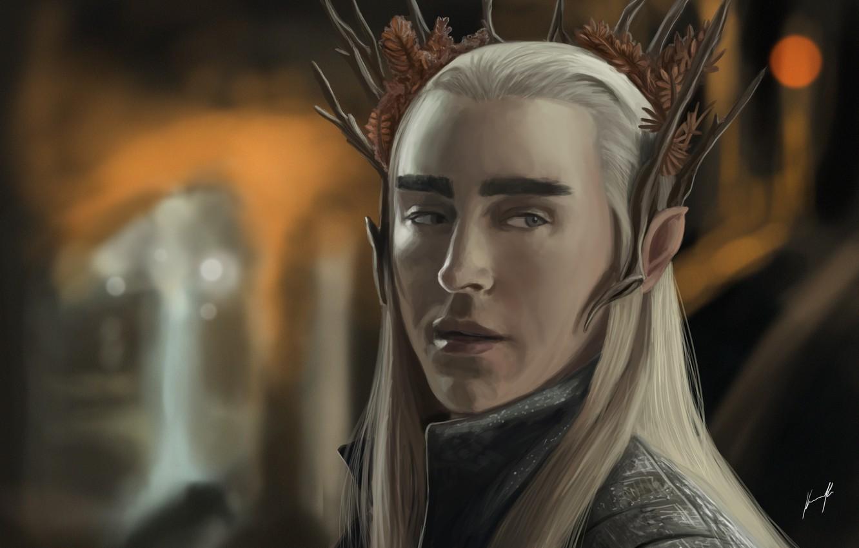 Wallpaper Elf Art The Hobbit Thranduil The King Of The