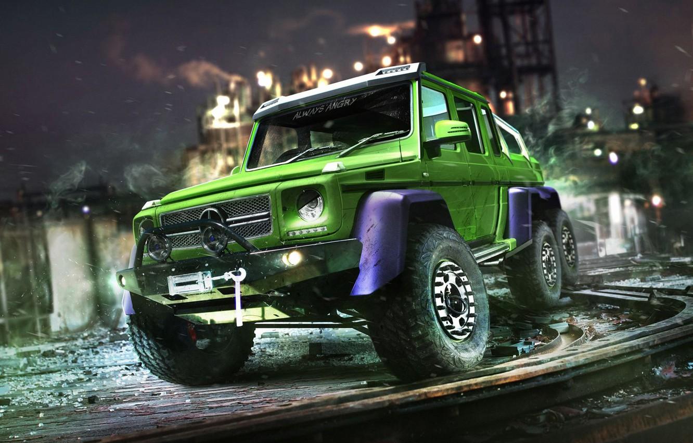 Photo wallpaper auto, Hulk, Superheroes, auto, superhero, Marvel, Marvel, The Hulk, Mercedes-Benz G63 AMG 6x6