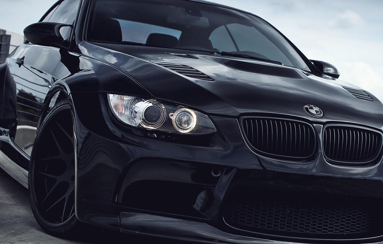 Photo wallpaper BMW, black, e92