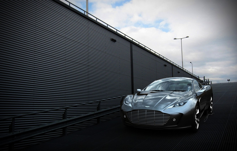 Photo wallpaper Aston Martin, Auto, The concept, Grey, Gauntlet, The front
