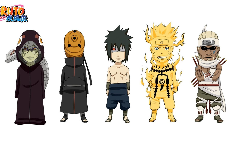 Photo wallpaper Sasuke, Naruto, Anime, Naruto Shippuden, Tobi, Killer Bee, Kabuto