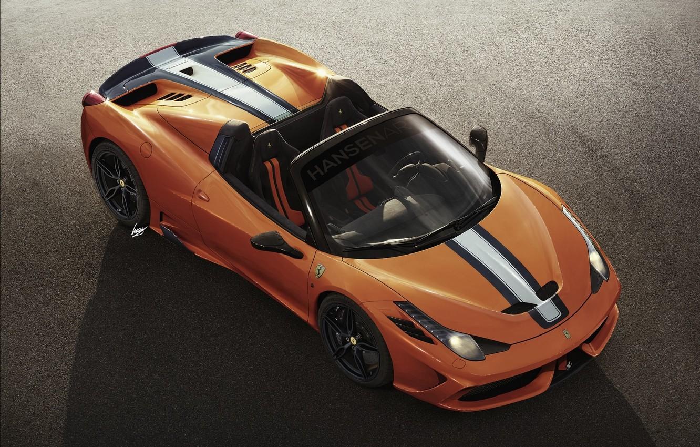 Photo wallpaper Ferrari, Orange, 458, Spider, Supercar, 2015, Speciale A, Hansen TYPE